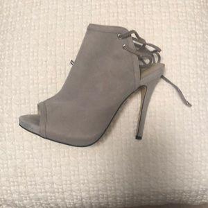 Shoe mint open toe high heel pumps
